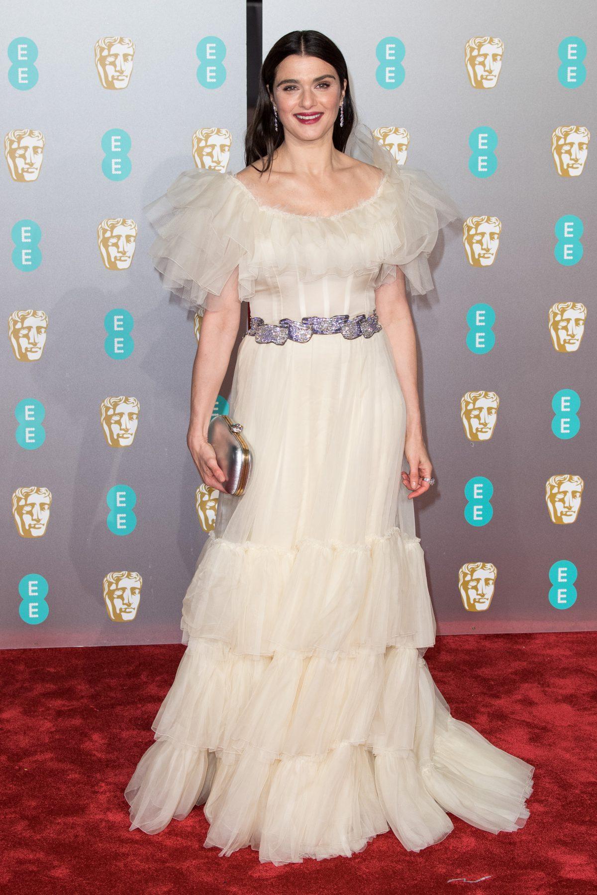 Rachel Weisz poses at the BAFTA awards 2019