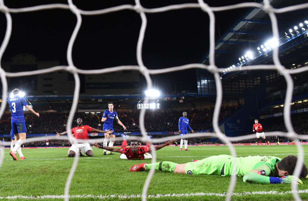 Paul Pogba powers Man Utd past Chelsea and into FA Cup quarter-final