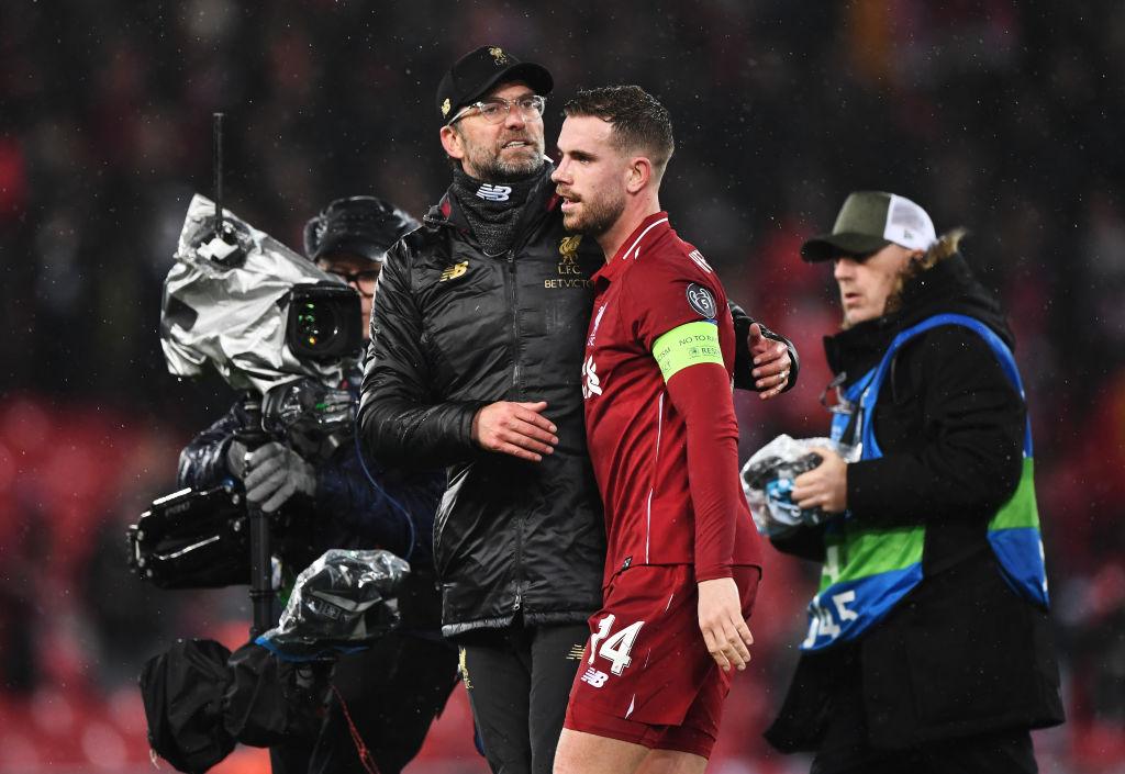 Jurgen Klopp singles out 'unbelievable' Jordan Henderson after Liverpool draw against Bayern Munich