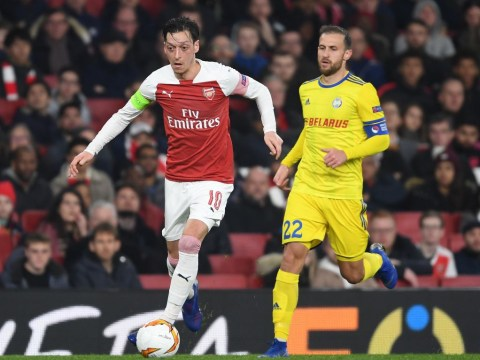 Alex Iwobi urges Unai Emery to keep Mesut Ozil in Arsenal team after BATE Borisov win