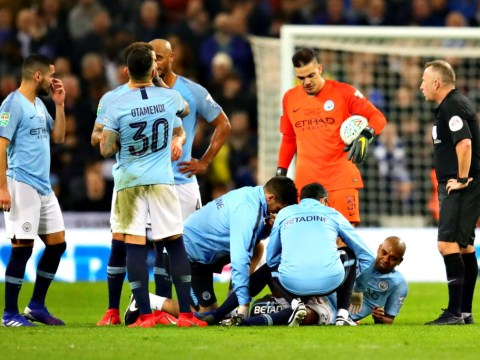 Pep Guardiola gives worrying update on Aymeric Laporte and Fernandinho injuries