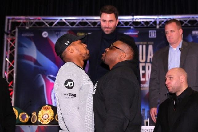Anthony Joshua and Jarrell Miller face off