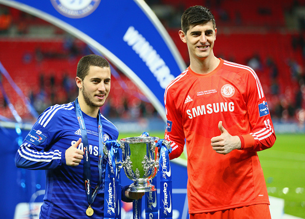 Thibaut Courtois compares Real Madrid sensation Vinicius Junior to Chelsea ace Eden Hazard