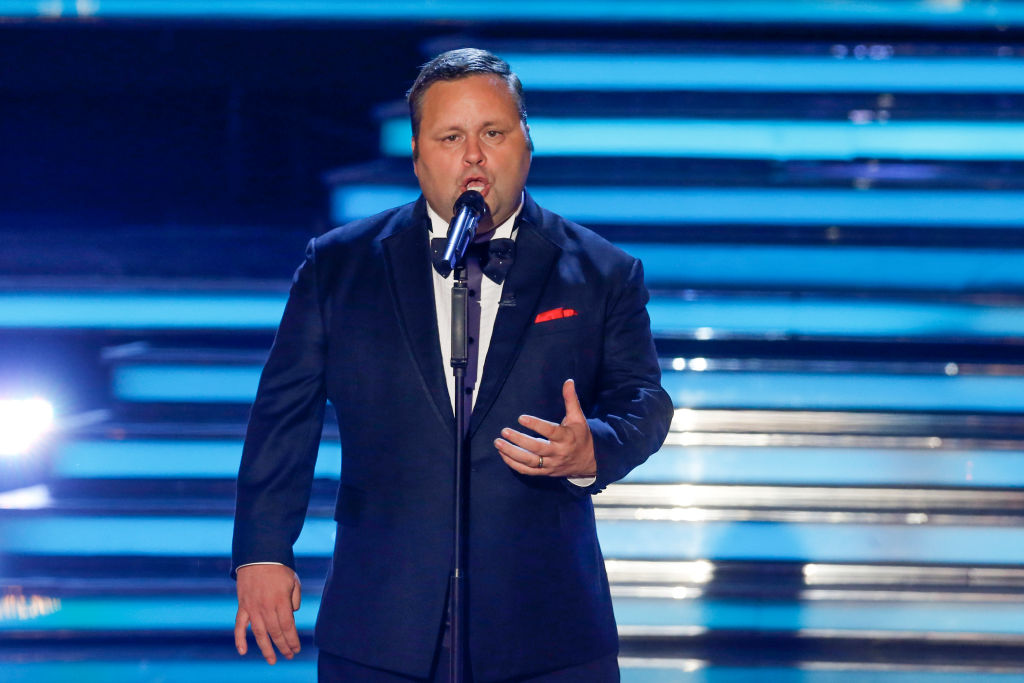 Paul Potts performing at America's Got Talent: The Champions