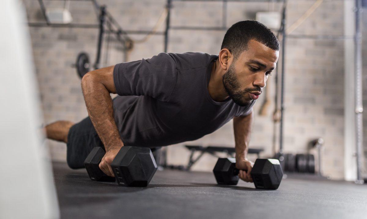 Man Doing Push Ups Exercise