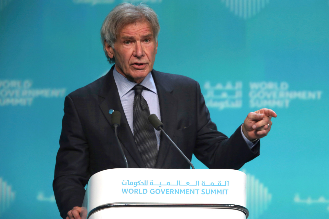 Harrison Ford: climate change is a 'moral crisis' and politicians are denying science
