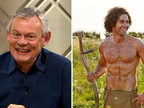 Lorraine branded 'sexist' by Martin Clunes for showing topless Poldark picture
