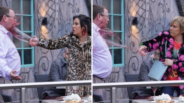 Kat and Jean soak Ian in EastEnders