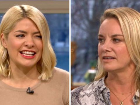 Holly Willoughby and Tamzin Outhwaite explain how they're related with complicated family connection