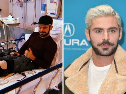 Zac Efron recovering from surgery after tearing his ACL in skiing accident