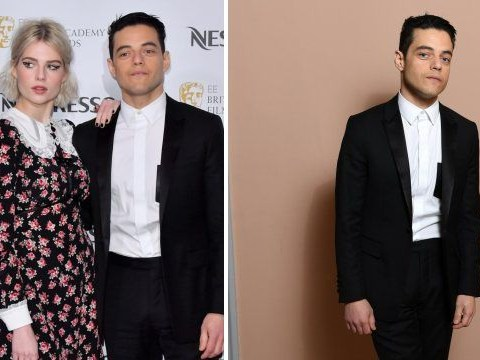 Bohemian Rhapsody's Rami Malek and girlfriend Lucy Boynton arrive for star-studded Bafta party