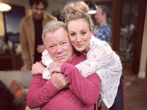 Kaley Cuoco shares first picture of William Shatner on-set of The Big Bang Theory getting us all buzzing
