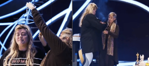 Gemma Collins' Dancing On Ice fall 'caused by WW2 ghost' according to shaman who 'cleansed' the Towie star