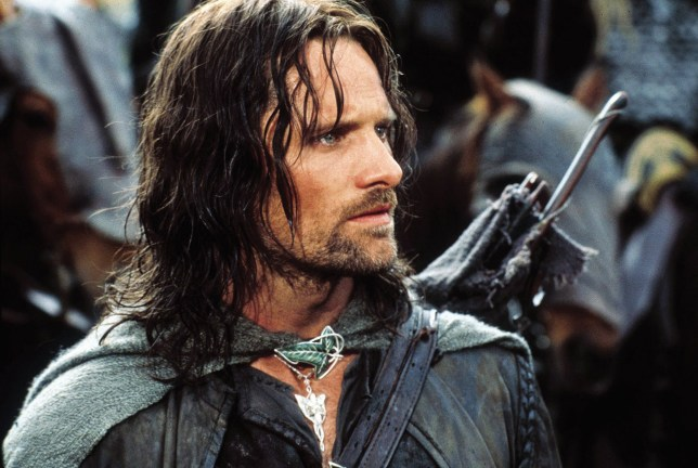 FILM 'The Lord of the Rings: The Two Towers' (2003).. Viggo Mortensen as Aragorn New Line Cinema.