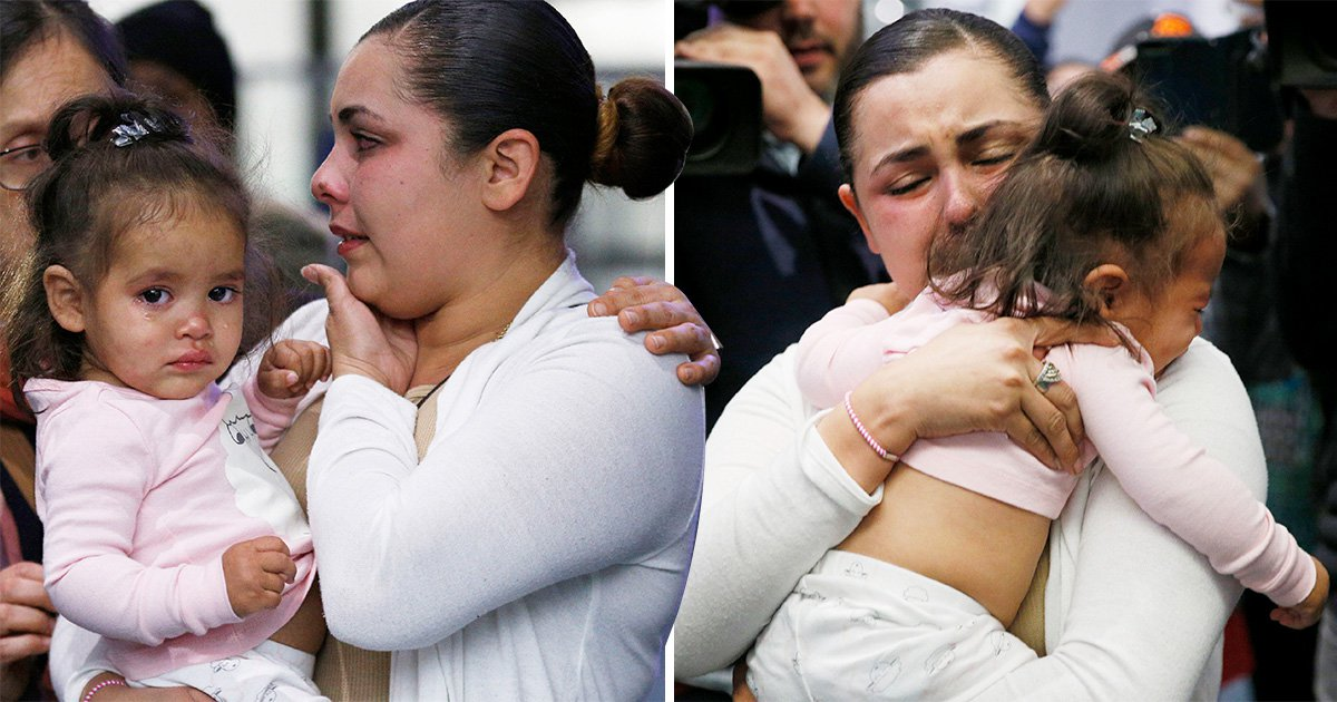 Emotional reunion between mum and daughter at US-Mexico border after month apart