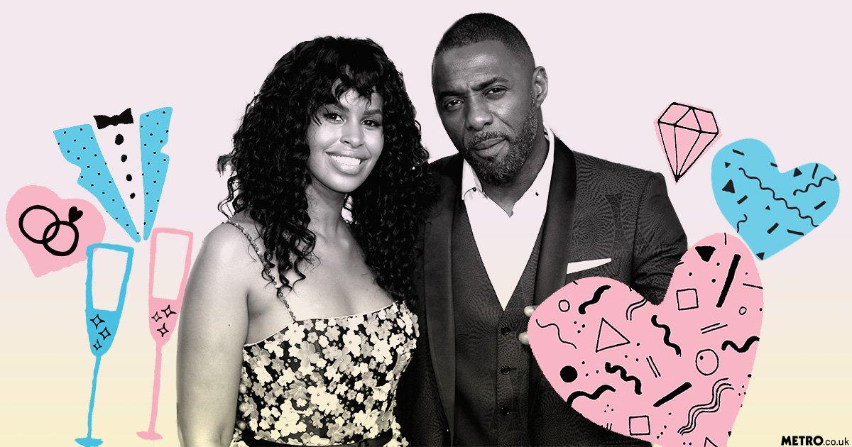 Idris Elba's fiancée Sabrina Dhowre denies secret wedding rumours after 'wife' slip