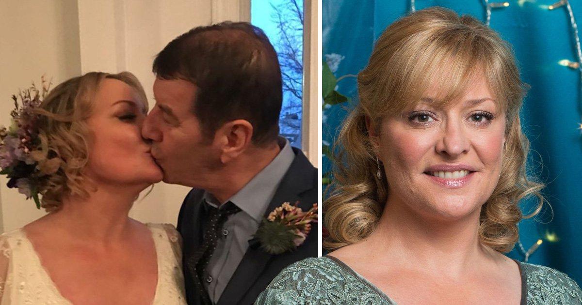 Eastenders' Laurie Brett marries Dennis Longman in intimate ceremony