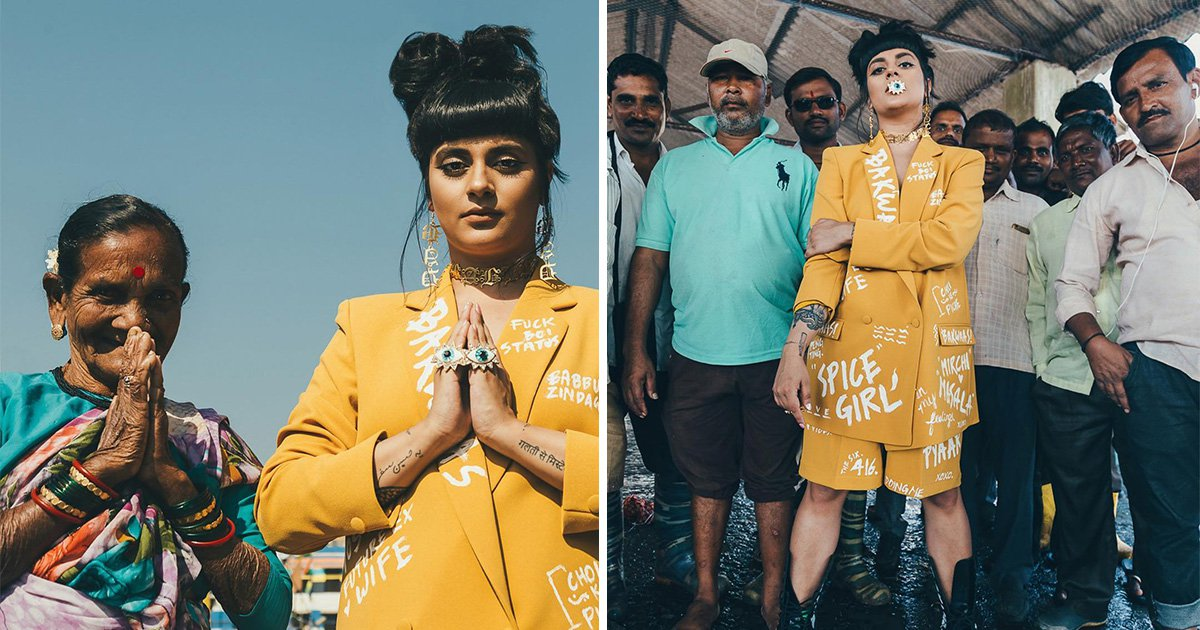 Artist and designer Babbu The Painter criticised for using poor Indian people as 'props' in photoshoot
