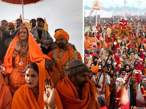 Millions of Hindu pilgrims plunge into rivers at India's religious mega festival