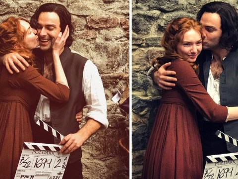 Eleanor Tomlinson shares emotional farewell to Poldark with Aiden Turner as show wraps