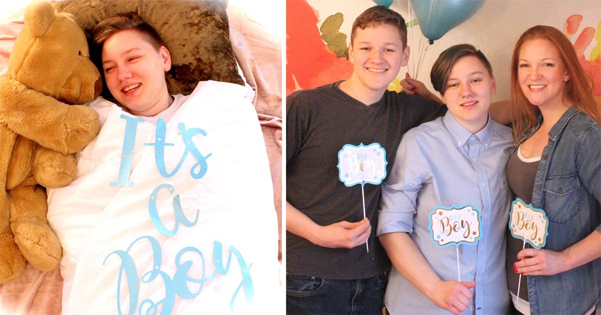 Mum has newborn themed photoshoot to celebrate trans son's birthday