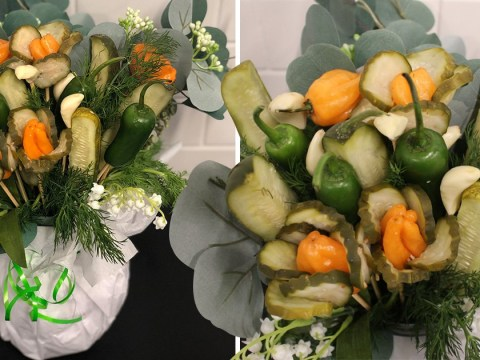 Pickle bouquets are apparently the new trend for Valentine's Day