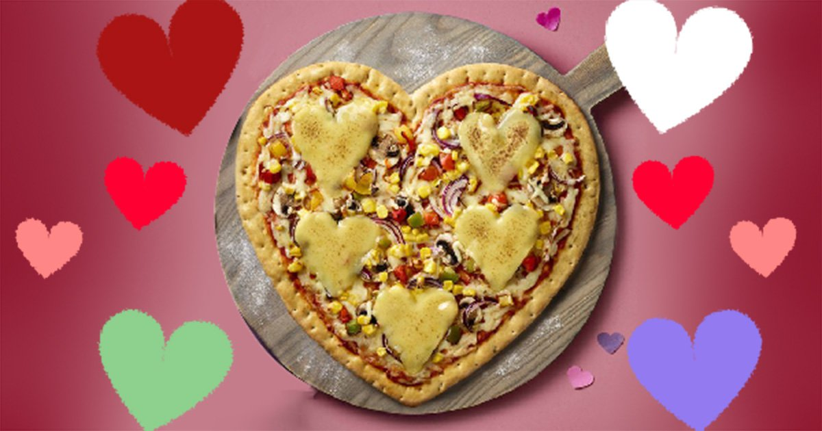 Asda launches heart-shaped pizza for Valentine's Day