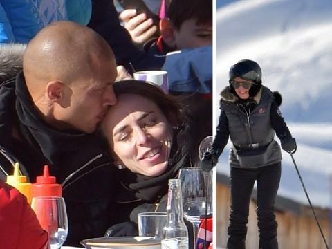 Jeremy Meeks kisses Chloe Green on birthday ski break in Courchevel