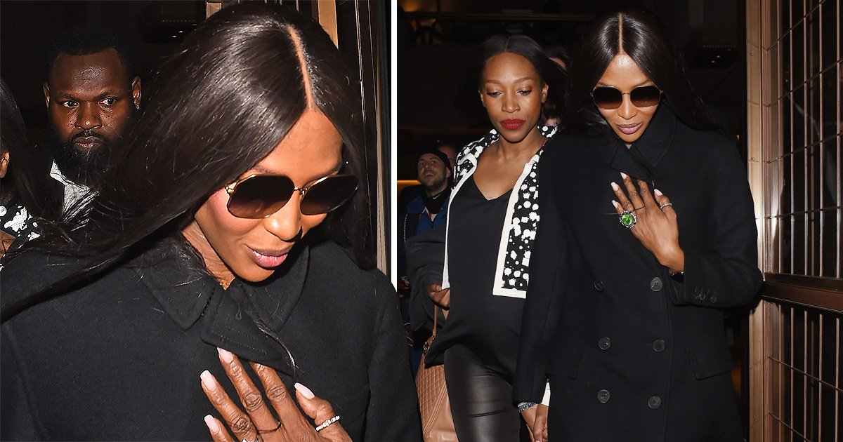 Naomi Campbell keeps her head down amid Liam Payne romance rumours as she leaves Vogue signing