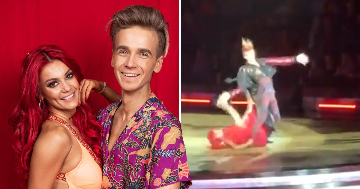 Joe Sugg drops Dianne Buswell in horror live fall at Strictly Come Dancing tour