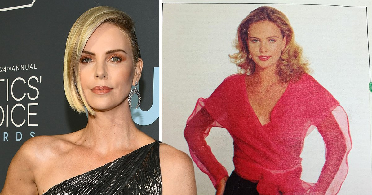 Sweet baby Charlize Theron is a 90s dream in old school teen modelling throwback
