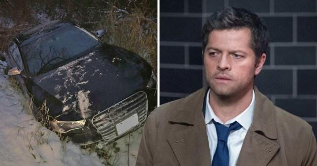 Supernatural star Mischa Collins gets into a car accident