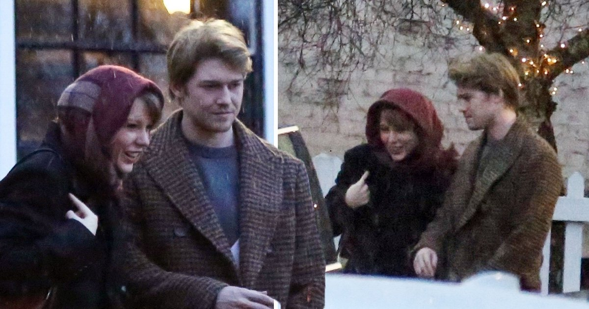 Taylor Swift and Joe Alwyn spend Friday night out of the rain and in the pub ahead of Baftas