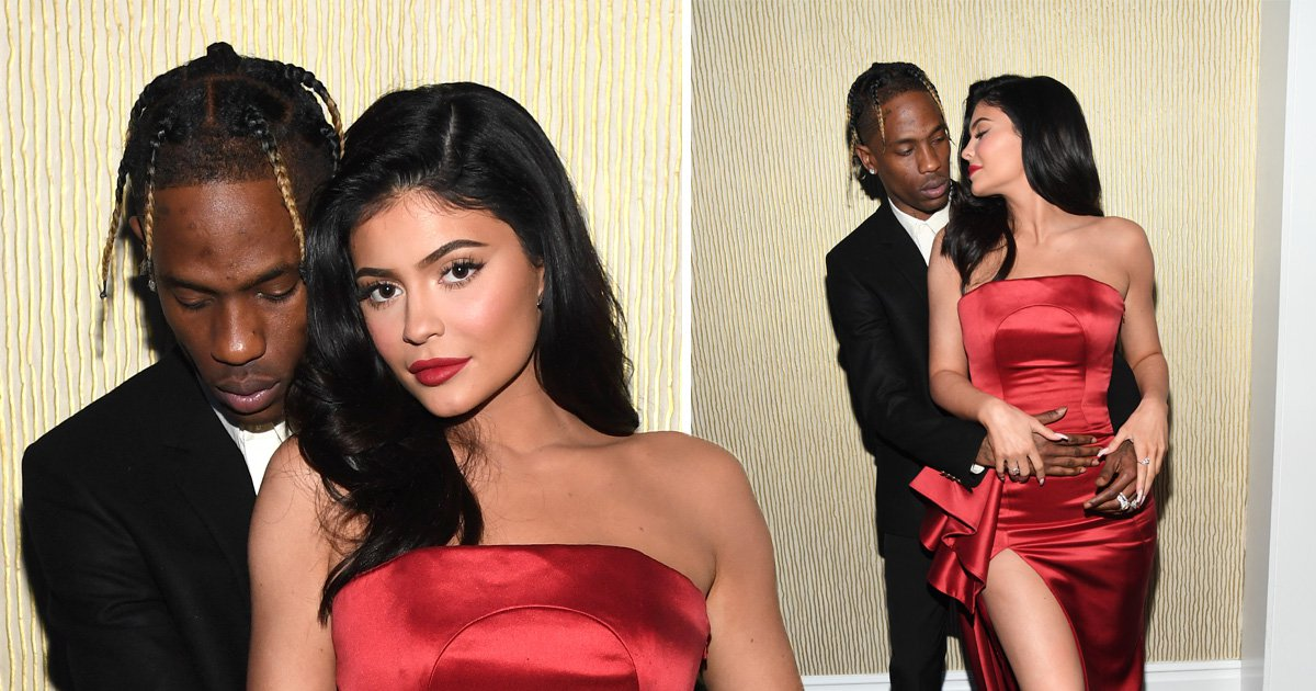Kylie Jenner and Travis Scott heat up Clive Davis pre-Grammys red carpet after Stormi's insane birthday bash