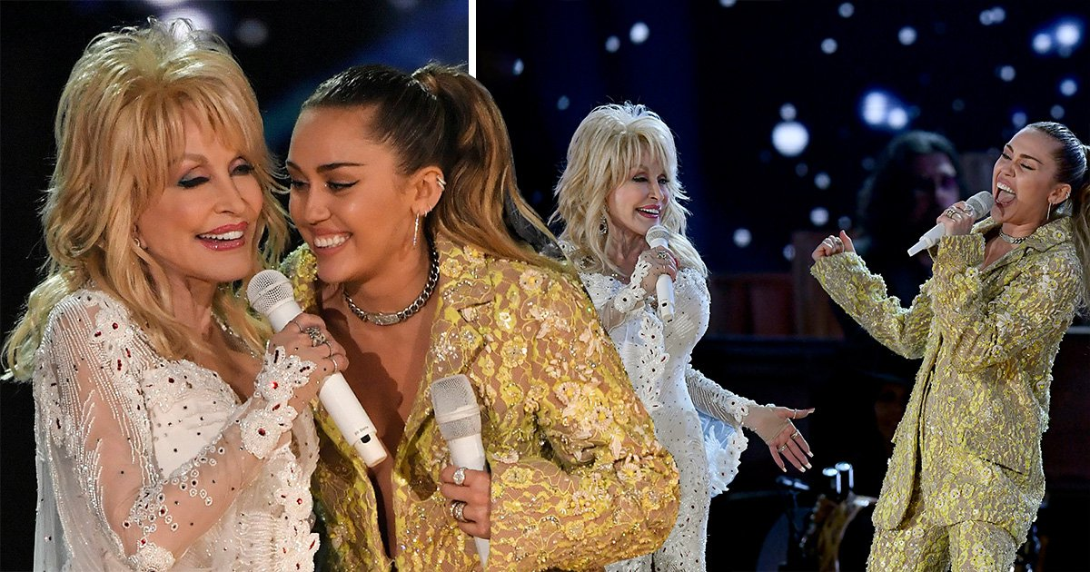 Miley Cyrus and Katy Perry pay tribute Dolly Parton at Grammys 2019 with powerhouse performance