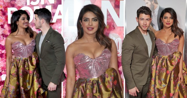 "Priyanka Chopra and Nick Jonas attend the premiere of ""Isn't It Romantic"""