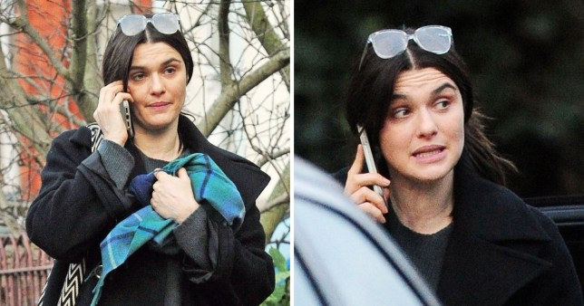 *EXCLUSIVE* Rachel Weisz Mrs James Bond out in London after winning her BAFTA award.