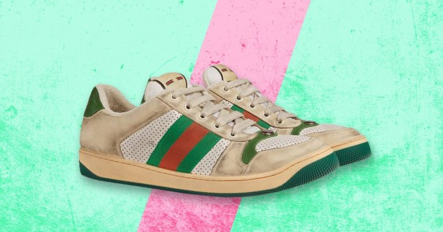 20189ac91 For the bargain price of £615, you can get Gucci trainers that look like  they're covered in dirt