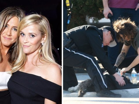 Jennifer Aniston and Reese Witherspoon pause filming for new show after dog killed in hit and run on-set