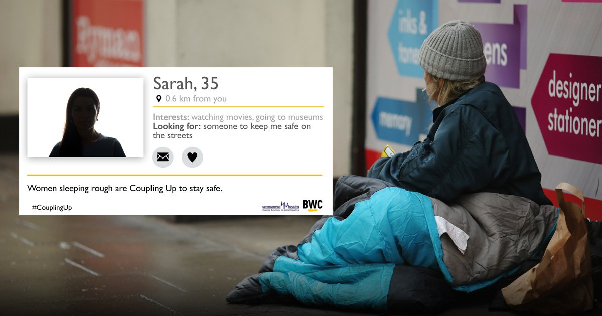 Homeless women set up dating profiles in attempt to stay safe for Valentine's Day