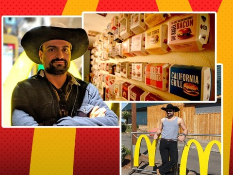 I'm Your Biggest Fan: Meet the storm chaser who has 600 McDonald's boxes on his walls