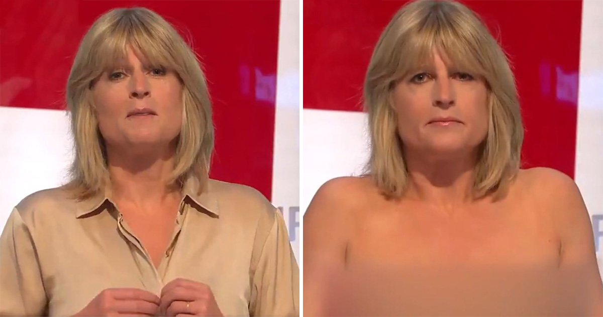 Rachel Johnson goes completely topless for live Brexit debate