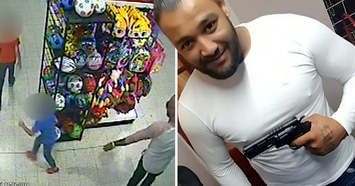 Man who threw acid at boy, 3, says he was scared into doing it with 'gun' in this selfie