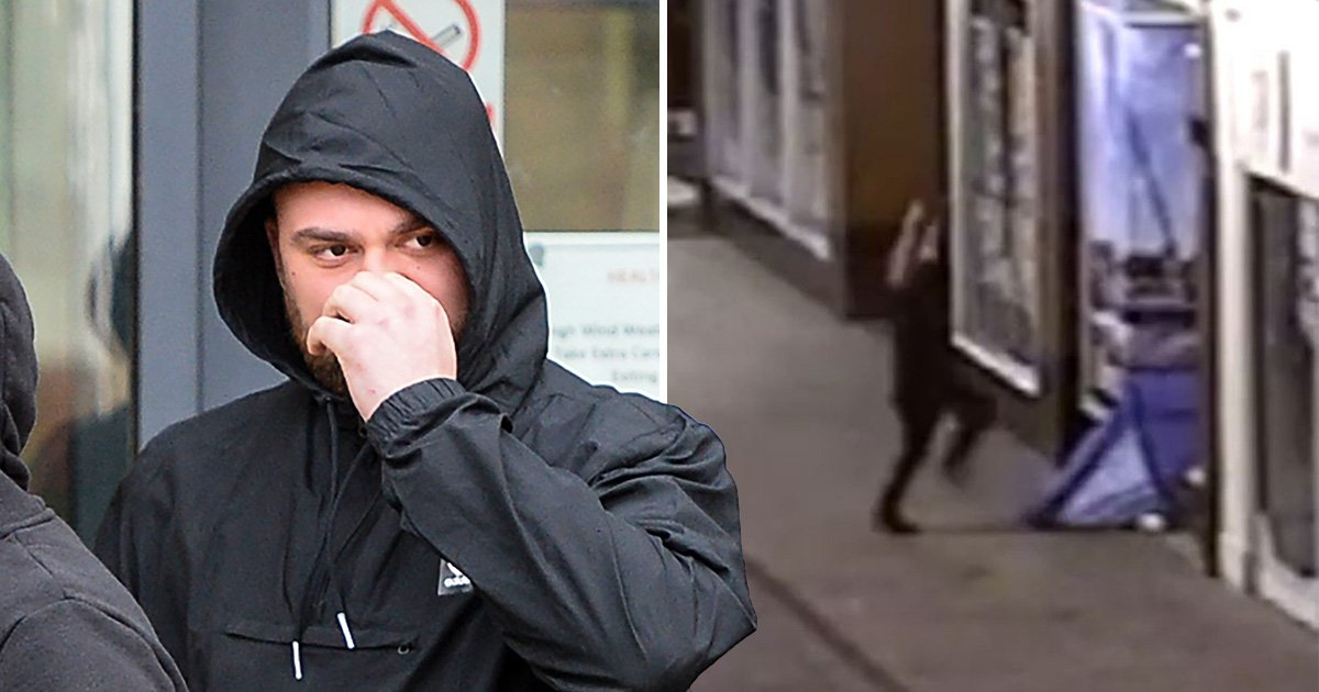 Dad caught jumping on two homeless men inside tent is jailed