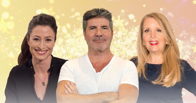 Simon Cowell, Gillian McKeith and Rebecca Loos