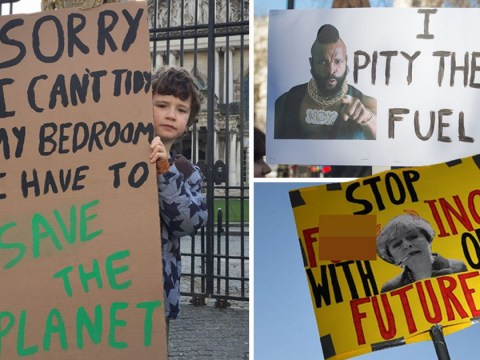 Take a look at some of the excellent placards made by kids for climate change strike