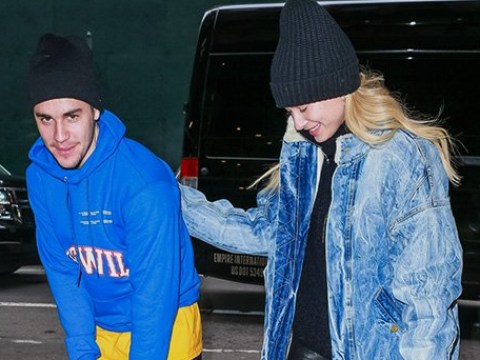 Justin Bieber and Hailey Baldwin are all smiles after after postponing second wedding to 'focus on mental health'