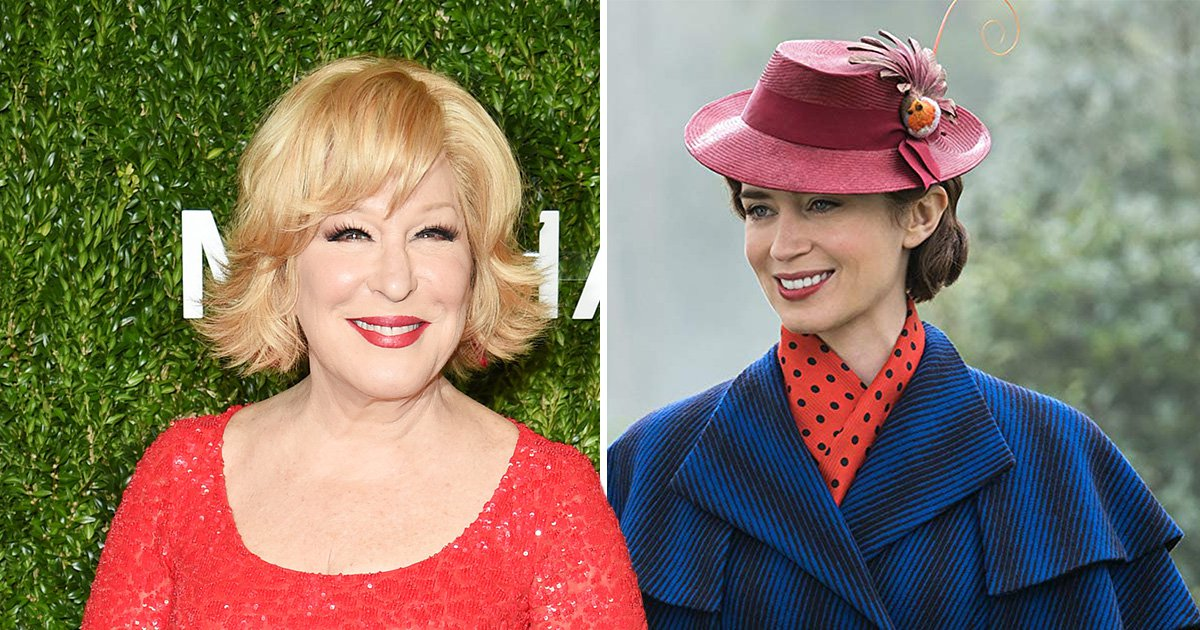 Bette Midler to perform Mary Poppins Returns tune at Oscars as it's announced all five best songs will hit the stage