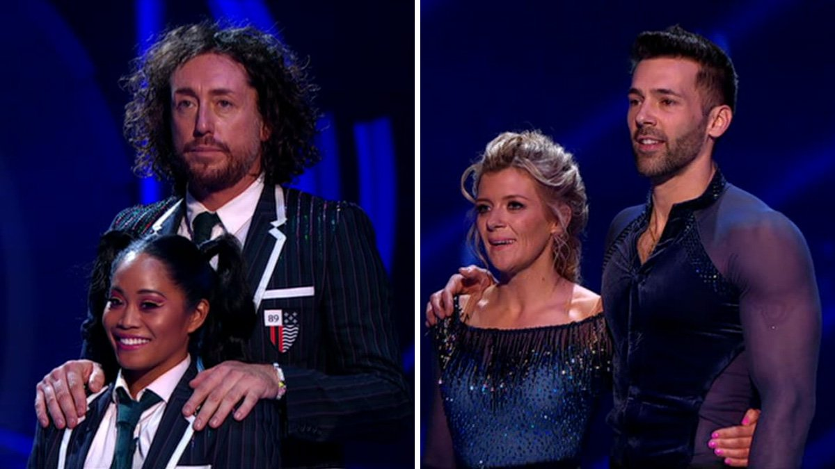 Ryan Sidebottom and Jane Danson gracious losers after Dancing On Ice double elimination