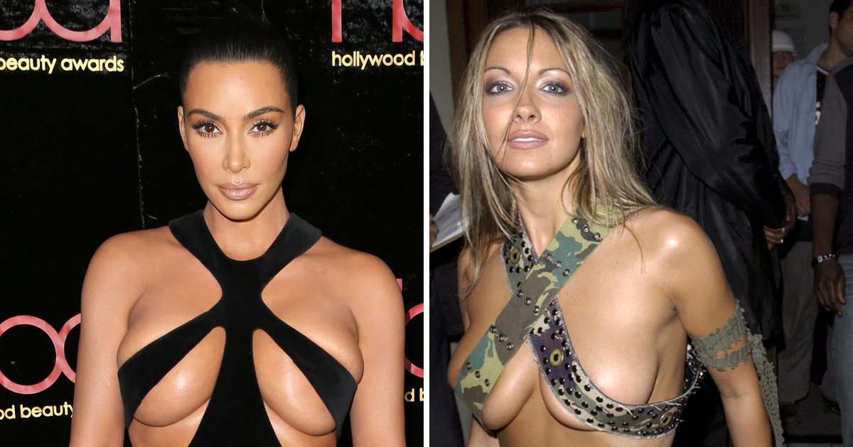 Kim Kardashian outdoes Jodie Marsh's boob belt outfit with jaw-dropping vintage Mugler gown